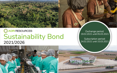 Agri Resources Group S.A. issues 8.00% Sustainability Bond with a volume of up to EUR 50 million