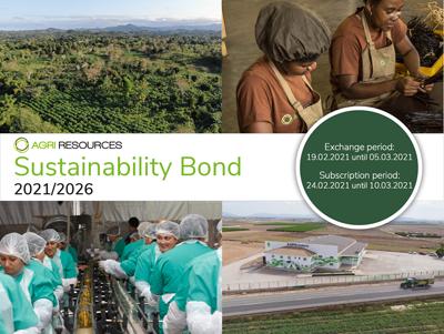 Agri Resources Group S.A. begibt 8,00 % Sustainability Bond im Volumen von bis zu 50 Mio. Euro
