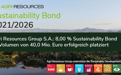 Agri Resources Group S.A.: 8,00 % Sustainability Bond im Volumen von 40,0 Mio. Euro erfolgreich platziert